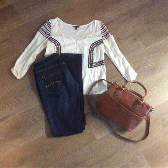 timeless design 6273d 107ee Entire OUTFIT!! Armani Jeans Cream Blouse Purse